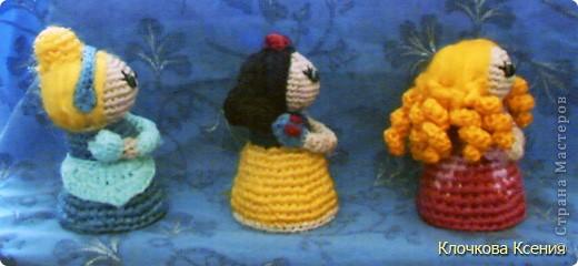 Вот таких принцесс (Золушка, Белоснежка и Аврора из Спящей красивыцы) я придумала сама. фото 4