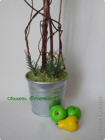 """Всем жителям творческой страны - привет!!!!!!!!!!!!!!! Хочу показать две разноплановые работы. Первая - это вариант фруктового дерева, подарочный вариант))) Второе-текстильное, назвала """"Викторианская роза"""". фото 7"""