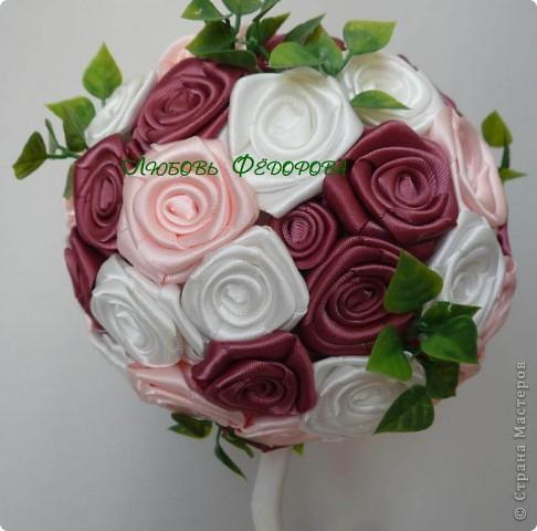 """Всем жителям творческой страны - привет!!!!!!!!!!!!!!! Хочу показать две разноплановые работы. Первая - это вариант фруктового дерева, подарочный вариант))) Второе-текстильное, назвала """"Викторианская роза"""". фото 9"""
