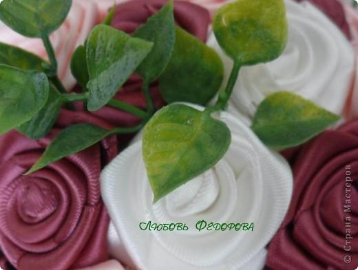 """Всем жителям творческой страны - привет!!!!!!!!!!!!!!! Хочу показать две разноплановые работы. Первая - это вариант фруктового дерева, подарочный вариант))) Второе-текстильное, назвала """"Викторианская роза"""". фото 12"""