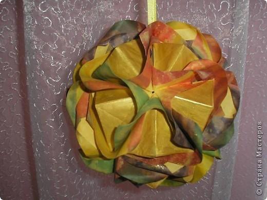 Кусудама Lotus crown. Автор Мария Синайская. фото 4