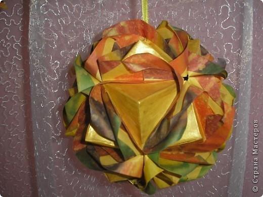 Кусудама Lotus crown. Автор Мария Синайская. фото 5