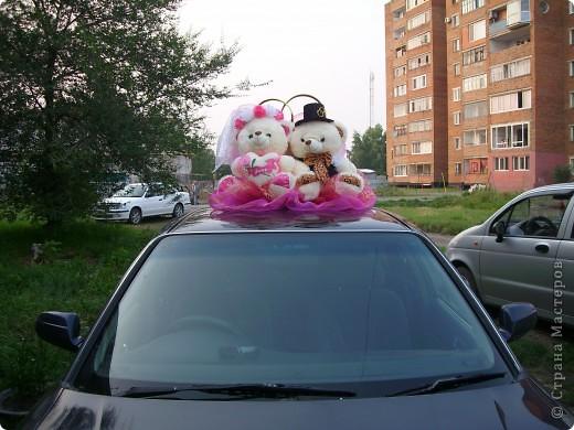Медведи на свадебную машину фото 2