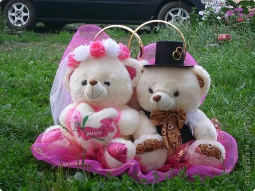 Медведи на свадебную машину фото 1