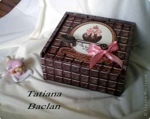 Вот такая коробочка получилась... шоколадная пришоколадная...)) фото 2