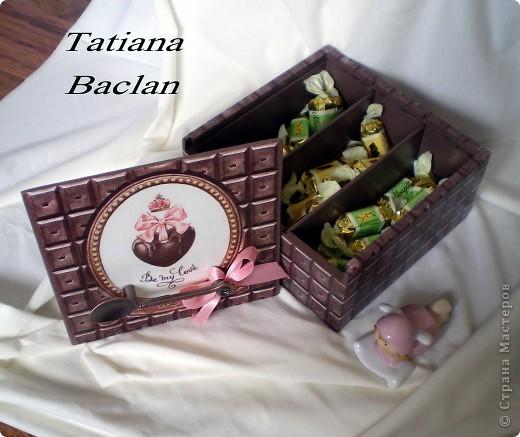 Вот такая коробочка получилась... шоколадная пришоколадная...)) фото 3