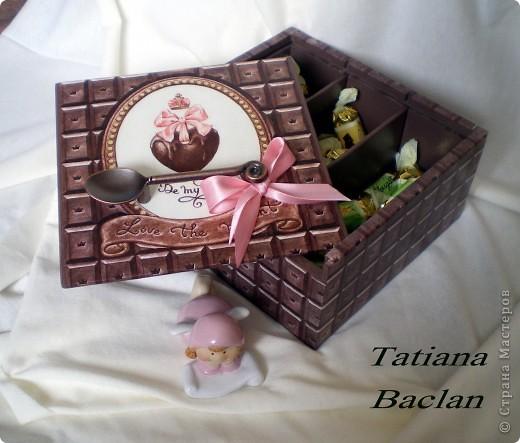 Вот такая коробочка получилась... шоколадная пришоколадная...)) фото 4