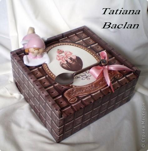 Вот такая коробочка получилась... шоколадная пришоколадная...)) фото 1
