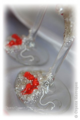 """Свадебные бокалы """"Красные розы"""" фото 6"""