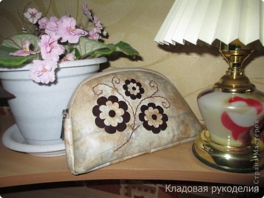 Косметичка из старой сумочки
