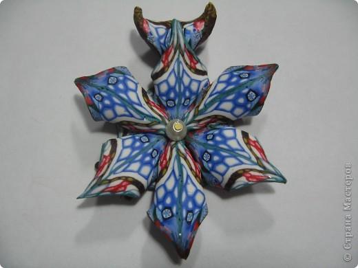 Медальон из полимерной глины сделан в технике Калейдоскоп. Глина Fimo.    фото 1