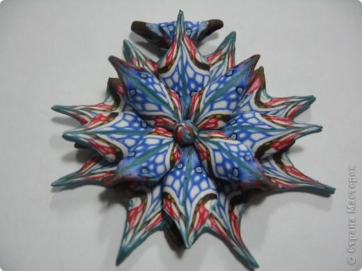 Медальон из полимерной глины сделан в технике Калейдоскоп. Глина Fimo.    фото 2