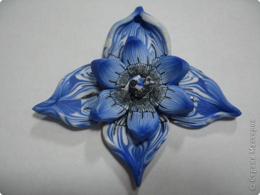 Медальон из полимерной глины сделан в технике Калейдоскоп. Глина Fimo.    фото 3