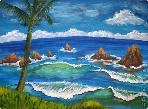 Морская зарисовка с пальмой.Специально для Натальи и её сынули. фото 1