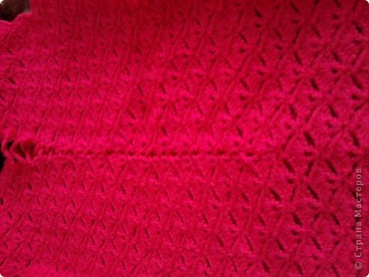 Добрый день! Связала я себе вот такое розовое платье:)  фото 3
