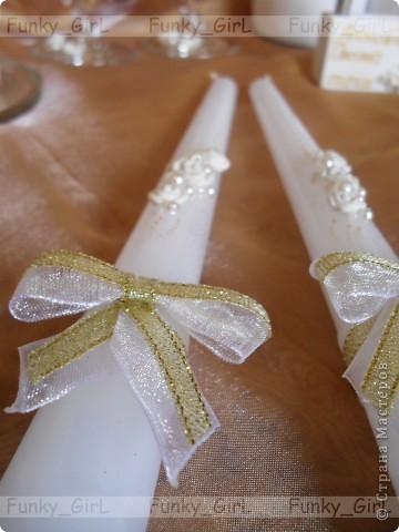 Мой первый свадебный набор, делала для сестры :) Косяков, конечно, много, но жених и невеста остались довольны. фото 5