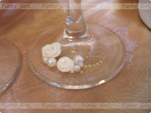 Мой первый свадебный набор, делала для сестры :) Косяков, конечно, много, но жених и невеста остались довольны. фото 4