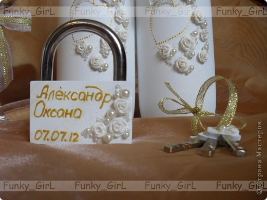 Мой первый свадебный набор, делала для сестры :) Косяков, конечно, много, но жених и невеста остались довольны. фото 7