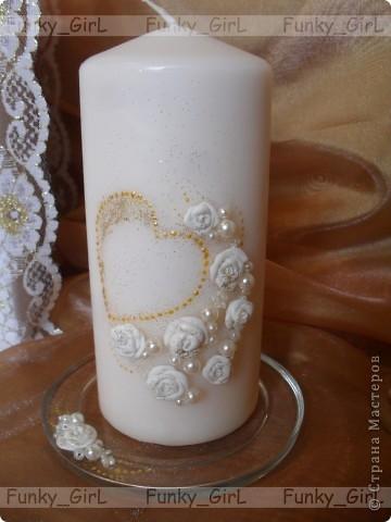 Мой первый свадебный набор, делала для сестры :) Косяков, конечно, много, но жених и невеста остались довольны. фото 10