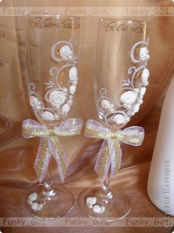 Мой первый свадебный набор, делала для сестры :) Косяков, конечно, много, но жених и невеста остались довольны. фото 3