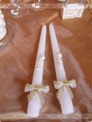 Мой первый свадебный набор, делала для сестры :) Косяков, конечно, много, но жених и невеста остались довольны. фото 6