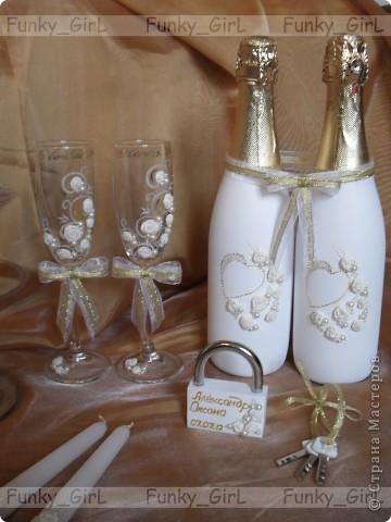 Мой первый свадебный набор, делала для сестры :) Косяков, конечно, много, но жених и невеста остались довольны. фото 2