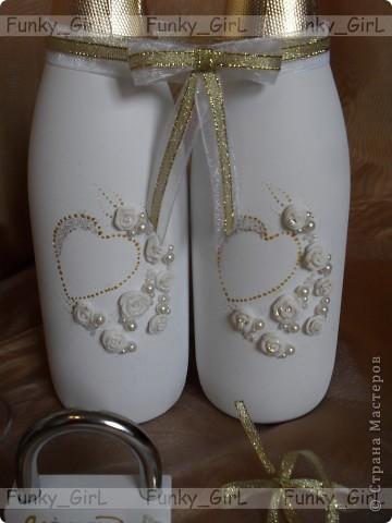 Мой первый свадебный набор, делала для сестры :) Косяков, конечно, много, но жених и невеста остались довольны. фото 8