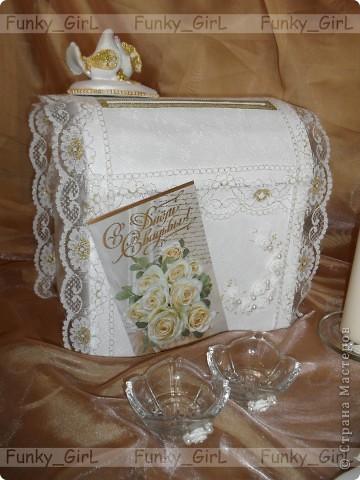 Мой первый свадебный набор, делала для сестры :) Косяков, конечно, много, но жених и невеста остались довольны. фото 11