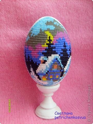 Яйцо оплетенное бисером