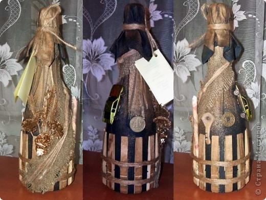 Декор предметов День рождения Свадьба Аппликация Декор бутылок Бисер Клей Нитки Ткань фото 4.