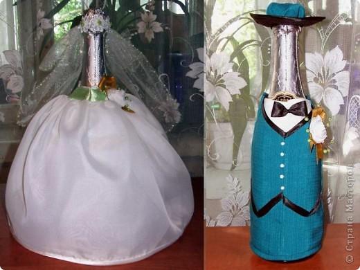 Декор предметов День рождения Свадьба Аппликация Декор бутылок Бисер Клей Нитки Ткань фото 9.