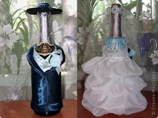 Декор предметов День рождения Свадьба Аппликация Декор бутылок Бисер Клей Нитки Ткань фото 10.