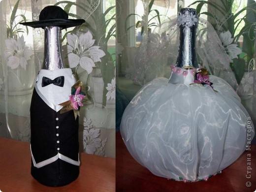 Декор предметов День рождения Свадьба Аппликация Декор бутылок Бисер Клей Нитки Ткань фото 11.