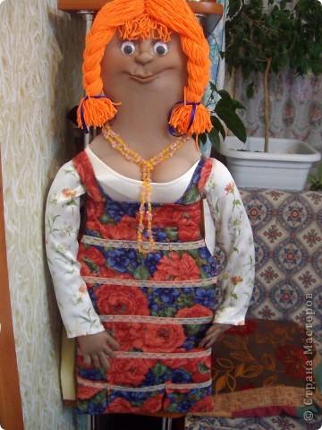 Как-то увидела в Стране Мастеров куклу-кармашек.И решила сшить такую-же .Получилась вот такая красотка. )))))))) фото 4
