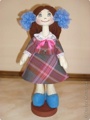 захотелось сшить куклу такого типа,получилась скромница такая... фото 3