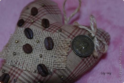 Сшились у меня несколько кофейных сердечек фото 5