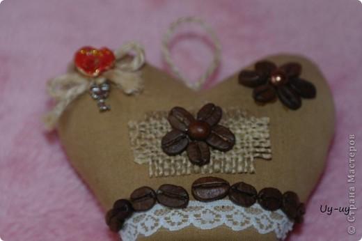 Сшились у меня несколько кофейных сердечек фото 3