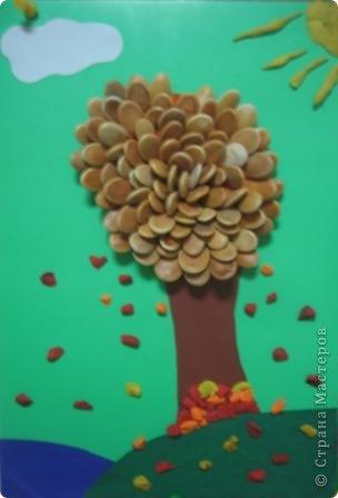 "осеннее дерево Аппликация из пластилина (+ обратная) "" ProstoDelkino.com - поделки своими руками."