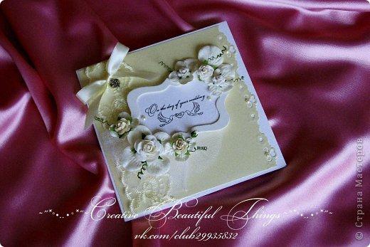 Подарочный наборчик на свадьбу - открытка и коробочка для денежного подарка фото 3