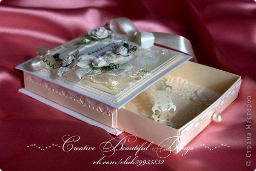 Подарочный наборчик на свадьбу - открытка и коробочка для денежного подарка фото 2