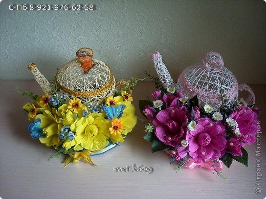 Эх чайники мои чайники ,вот сделала в другом цвете)   фото 1
