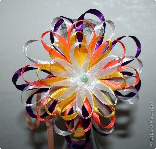 Поделки цветок из ленты своими руками