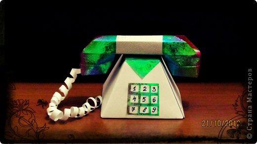 Телефон из картона своими руками