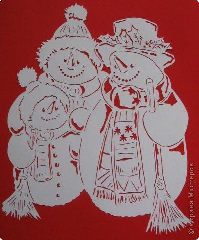 снеговиков Бумага фото 1