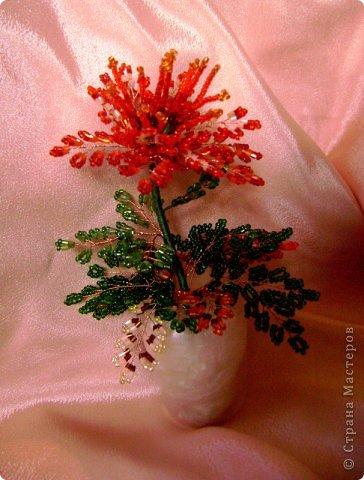 Мастер-класс Бисероплетение Цветы из бисера Бисер фото 1.