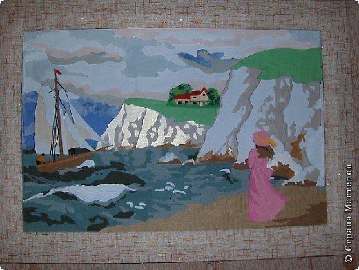 Зимний пейзаж. Размер работы 32х43 см. фото 14