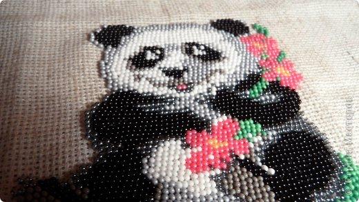 Поделка изделие Бисероплетение Вышитая панда Бисер фото 3.