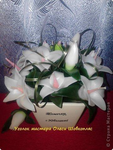 Свеча голубые розы) фото 4
