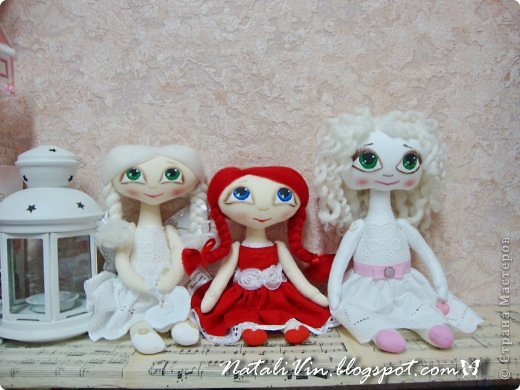Доброе время суток, дорогие жители и гости)))) Ну вы уже догадались, что увлеклась я куклехами...вот очередные девочки...без имен, потому что в подарок))) фото 13