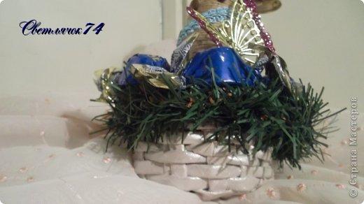 Хоровод елок к парадному выходу готов! Эта - самая любимая по цвету. А до украшения смотрелась как странный одноглазый монстр :) фото 7